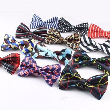 2016 Men's Bow Tie High Quality Flexible Bowtie Smooth Necktie Soft Matte Butterfly Decorative Pattern Solid Color Ties