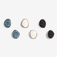 Druzy Stone Earring Set