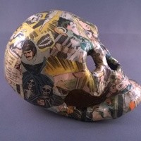 Decoupage Skull Horror Comics from Paste Pot Prefects