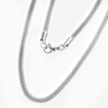 ON SALE - 24 inch Wide Hollow Mesh Stainless Steel Chain