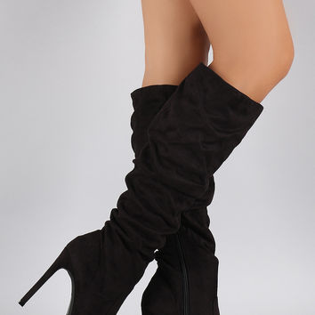 Slouchy Pointy Toe Stiletto Boot