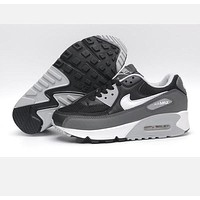 NIKE AIR MAX 90 fashion ladies men running sports shoes sneakers F-PS-XSDZBSH  Grey + ash + white grey sole
