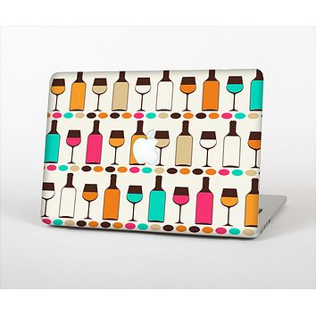 The Vectored Color Wine Glasses & Bottles Skin Set for the Apple MacBook Pro 15""