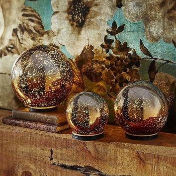 Twinkling Ombre Spheres - Gold & Silver