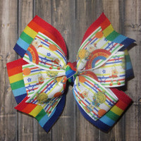 Rainbow Brite Hairbow / Rainbow Brite Bow / Rainbow Hairbow