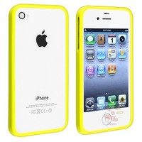 For Apple iPhone 4/4S Bumper TPU Case , Yellow