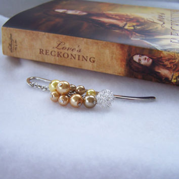 Golden Yellow Dangling Bookmark