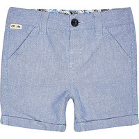 River Island Mini boys blue shorts