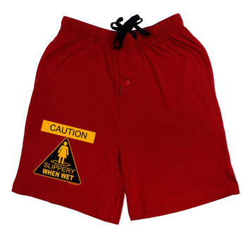 Slippery When Wet Adult Lounge Shorts