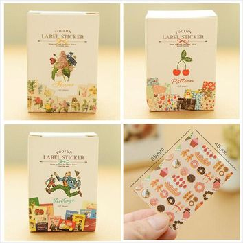 52 pcs/bag DIY Mini Cute Kawaii Lace Flower Sticker Vintage Retro Sticky Paper for Scrapbooking Decoration Free shipping 934