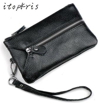 Itopkris Fashion Women Housekeeper Key Holder Leather Car Key Wallet Female Coin Purse Business Card Holder Wallet For Man