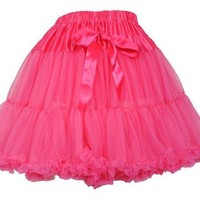 Vintage 50s Style Fluffy Petticoat Pink 17"