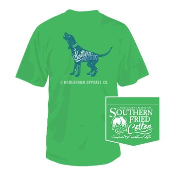 Goodnight Hound Tee in Spring Green by Southern Fried Cotton