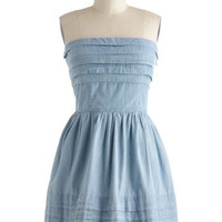 Jack by BB Dakota What a Keeper Dress in Chambray | Mod Retro Vintage Dresses | ModCloth.com