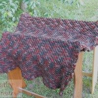 Rich Earthy Brown Crocheted Afghan | Cathy Creates - Handmade knit and crochet accessories and apparel