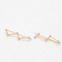 Jagged Rhinestone Earpin Set