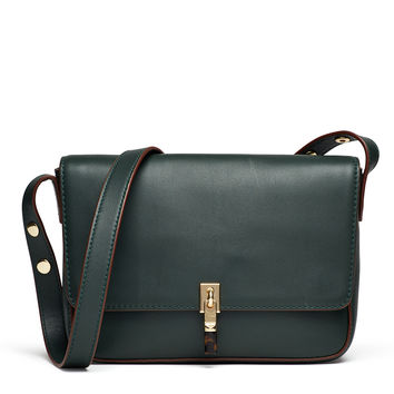 Elizabeth and James Accessories Bottle Green Cynnie Shoulder Bag