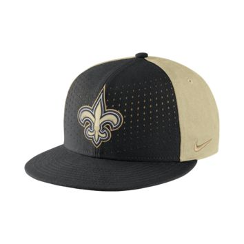 Nike Laser Pulse True (NFL Saints) Adjustable Hat (Black)