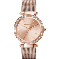 Darci Rose Golden Stainless Steel Mesh Watch - Michael Kors - Rose gold