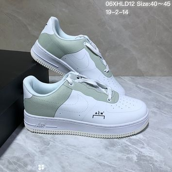 KUYOU N1014 A-Cold-Wall x Nike Air Force 1 AF1 ACW Low Leather Skate Shoes White