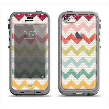 The Vintage Summer Colored Chevron V4 Apple iPhone 5c LifeProof Nuud Case Skin Set