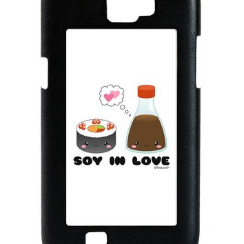 Cute Sushi and Soy Sauce - Soy In Love Galaxy Note 2 Case  by TooLoud