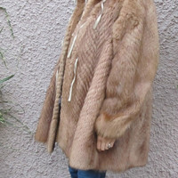 Authentic Fendi Mink Fur Coat Jacket Vest 3 In One Combo Reversible Excellent No Damage Condition