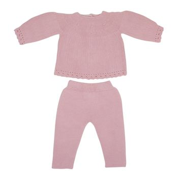 Artesenia Carmina Baby Girls' Antique Pink Set