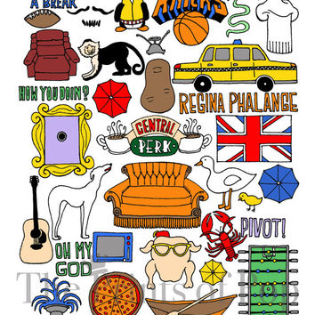 Friends TV Print Collage (11x14) - FREE SHIPPING
