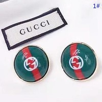 GUCCI New fashion letter stripe round earring women 1#