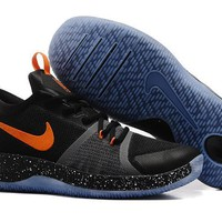 Beauty Ticks Vawa Men's Nike Zoom Assersion Ep Kyrie 3 Basketball Shoes Black Orange