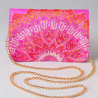 AZIZAH EMBROIDERED MINI CLUTCH