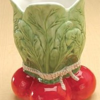 Radish Ceramic Vase for Dinner Serveware 8H