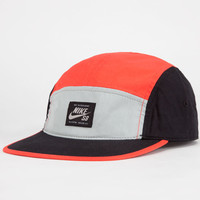 Nike Sb Blocked Mens 5 Panel Hat Red Combo One Size For Men 22729734901