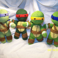 Crochet Teenage Mutant Ninja Turtle crochet turtle You pick the turtle this is for one turtle