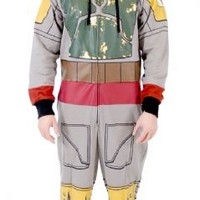 Star Wars Boba Fett Adult Gray Costume Jumpsuit