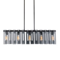 Everly 5-Light Smoked Glass Island Lighting Fixture by Uttermost