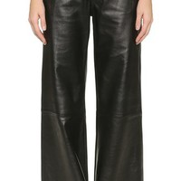 J Brand Carine Wide Leg Leather Pants