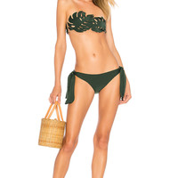 ADRIANA DEGREAS Strapless Bikini Set in Green