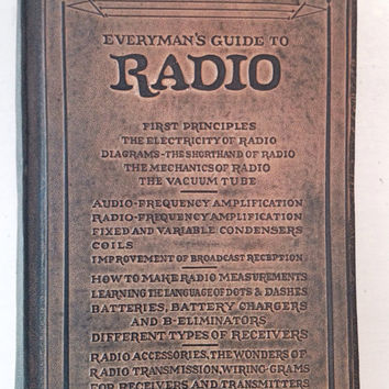 Everyman's Guide to Radio / Antique Radio Book / Vintage Radio Manual