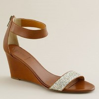 Women's new arrivals - shoes - Crushed glitter wedges - J.Crew