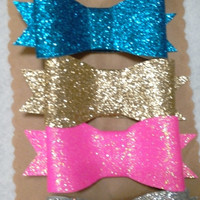 Glitter Bow Set with alligator clip, barrettes, girls, babies, sparkle, newborn, infant, toddler, glitter bows, baby girls, hair accessories