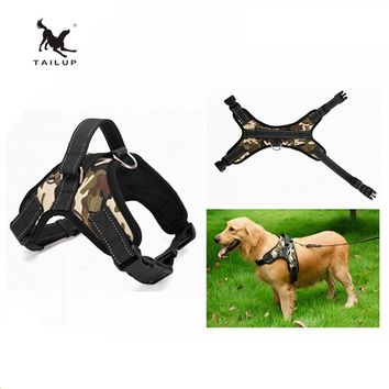 TAILUP No Pull Reflective Padded Dog Harness Easy Walk Large Dog Vest Harness