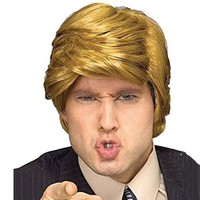 THE BILLIONAIRE Donald Trump Wig Comb Over President Donald Trump Wig for Adult Halloween Christmas Costume Easy Fancy Dress