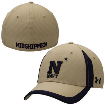 Navy Midshipmen Under Armour 2014 Sideline Touchback Performance Flex Hat – Gold