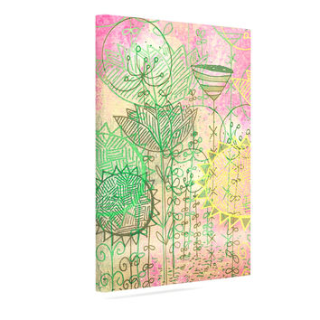 "Marianna Tankelevich ""Pink Dream"" Pink Green Canvas Art"