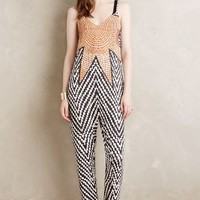 Mara Hoffman Sun Salutations Jumpsuit in Black & White Size: