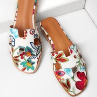Morrocan Style Embroidered Sandals for Women