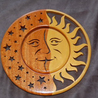 Sun/Stars catcher 1216 by ImageryWoodworking on Etsy