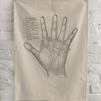 The Rise And Fall - Palmistry Kitchen Towel - Natural